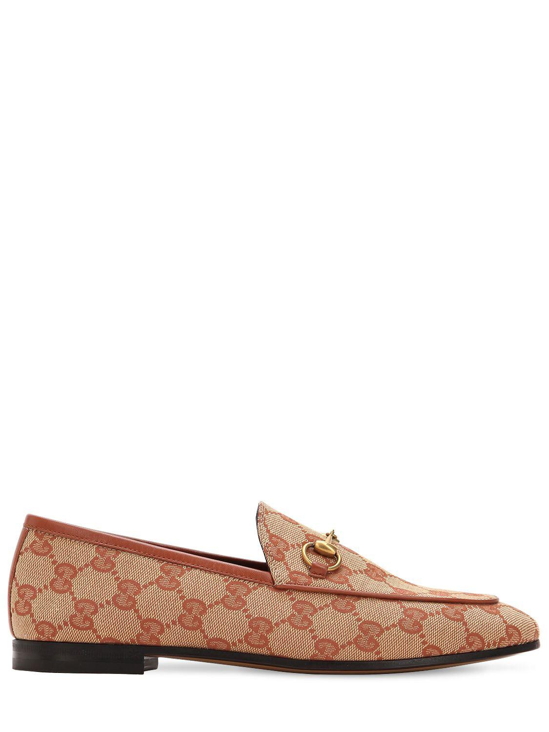 9fac6a26f Gucci Jordaan Loafer in Natural - Save 26% - Lyst