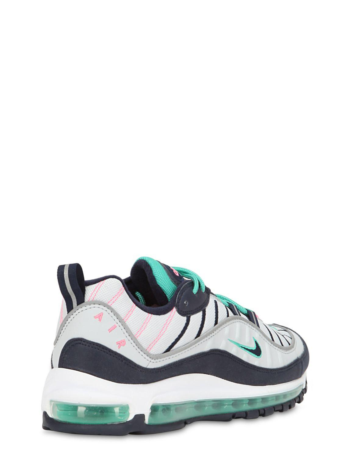 5721f191643206 Nike Air Max 98 South Beach Sneakers in Green for Men - Lyst
