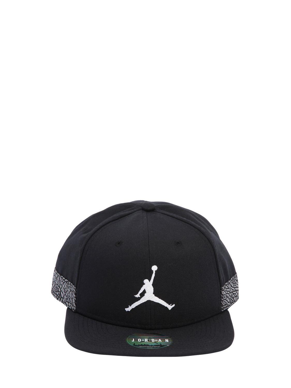 c9a85f63094ad0 ... switzerland lyst nike air jordan jumpman pro aj 3 hat in black for men  63a0f d9d05