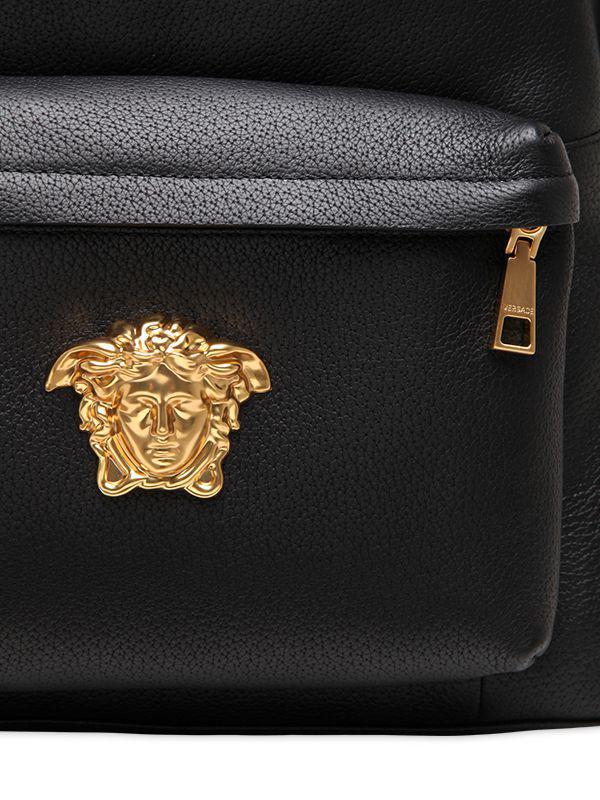 ... Versace - Black Medusa Leather Backpack - Lyst. View fullscreen new  styles 32f25 cd2c0 ... f3158cdc00