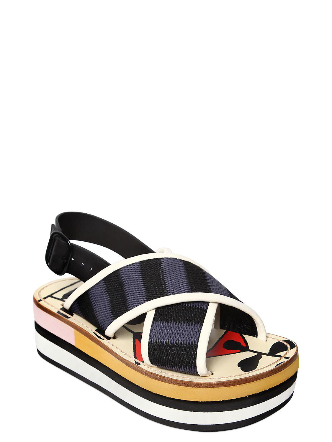 new cheap online newest for sale Marni Crossover Wedge Sandals cheap prices authentic buy cheap latest buy cheap low cost R8eK8Yz5z
