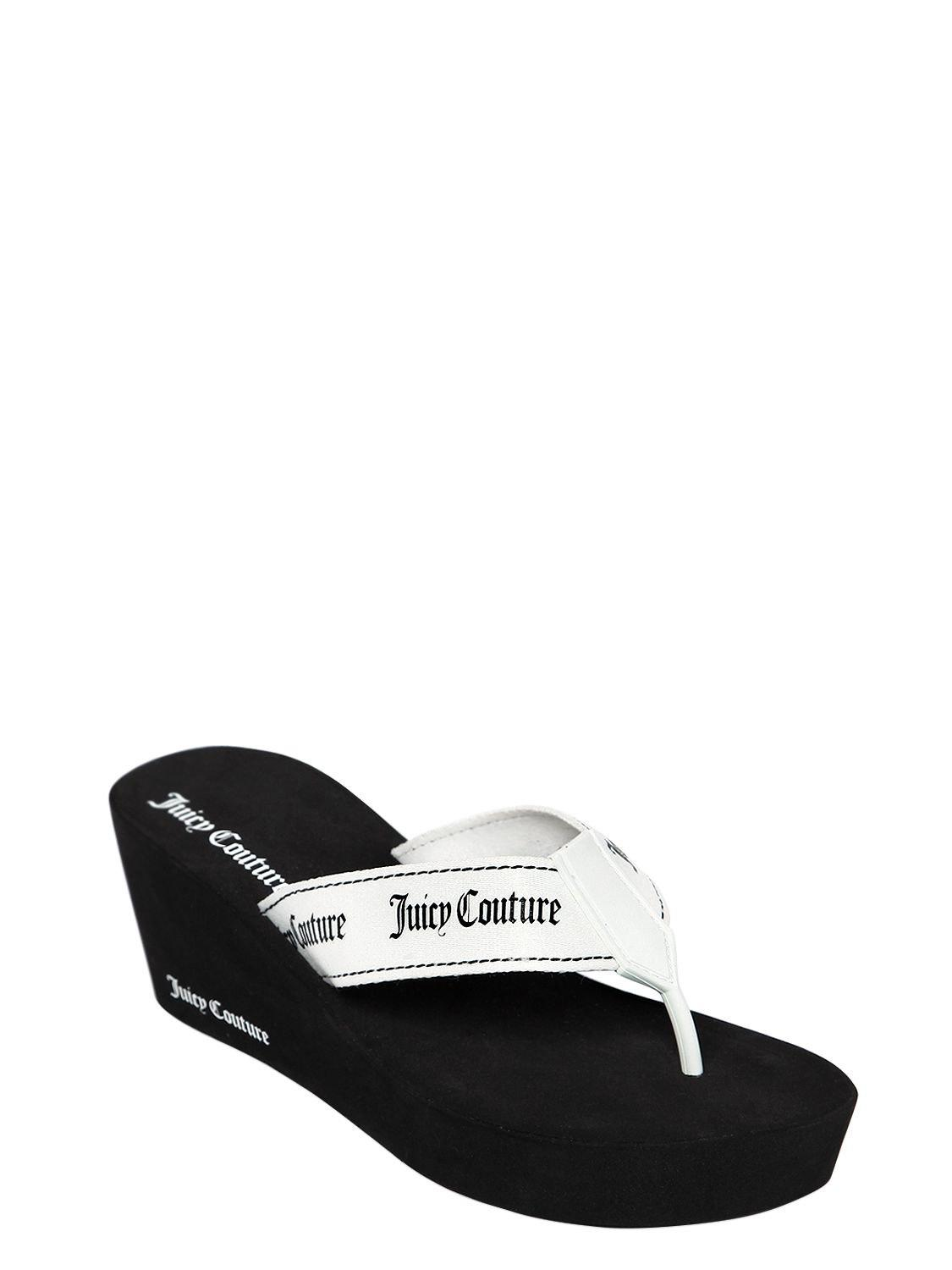 bf5de34d6f55 Juicy Couture 60mm Naomi Nylon Wedge Flip Flops in White - Lyst