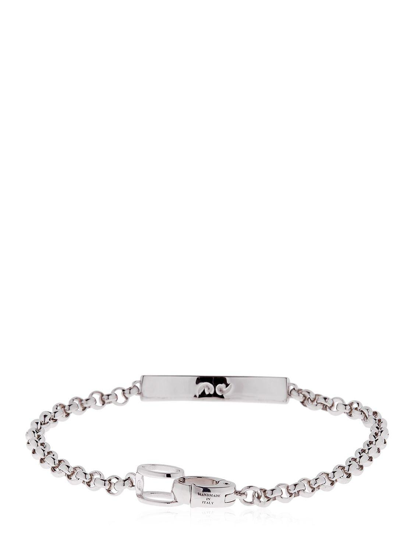 Marco Dal Maso Ara Oxidized Sterling Silver Bracelet with Champagne Diamond KBjiNO9VYA