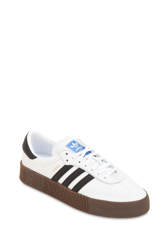 49e8535417a8f4 adidas Originals Samba Rose Bold Platform Sneakers in White - Save 34% -  Lyst
