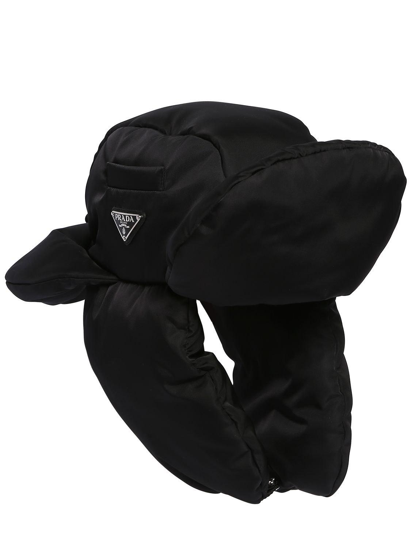 Lyst - Prada Padded Nylon Trapper Hat in Black for Men 6c946ee5fe91