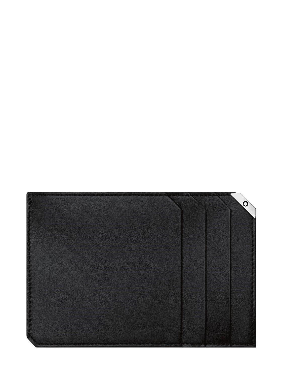 Lyst montblanc urban spirit leather zip card holder in black for men montblanc mens black urban spirit leather zip card holder colourmoves