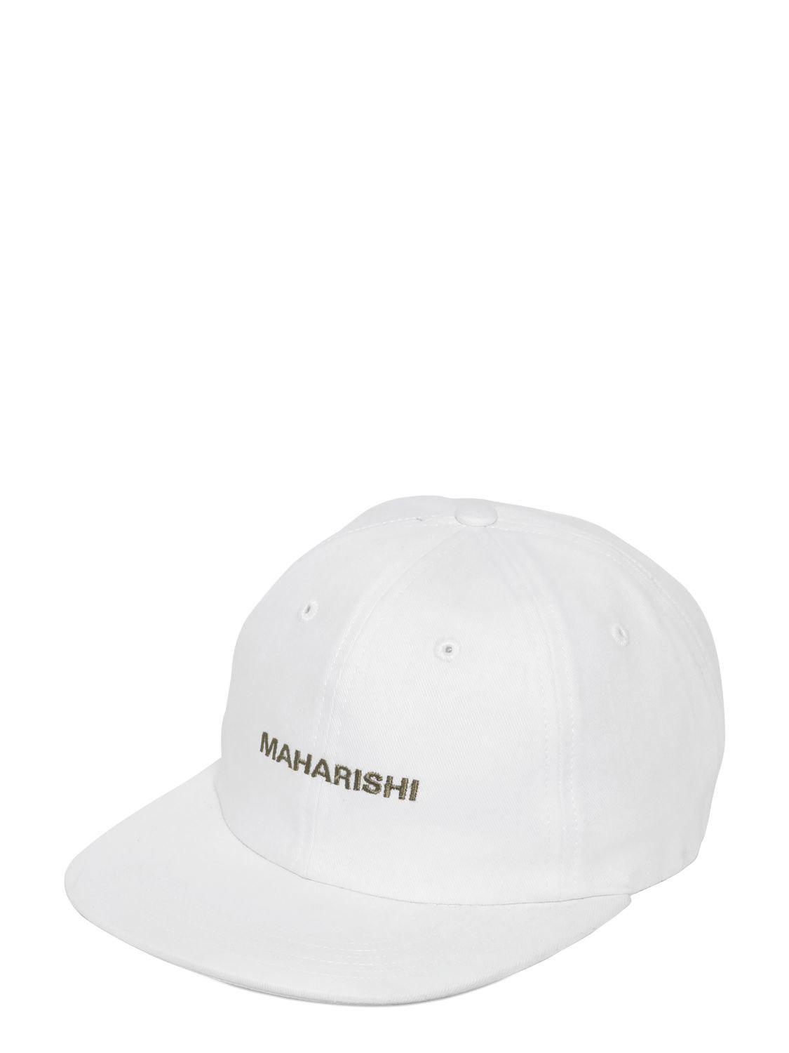 Maharishi Logo Embroidered Canvas Baseball Hat in White for Men - Lyst 65fdc9af02f5