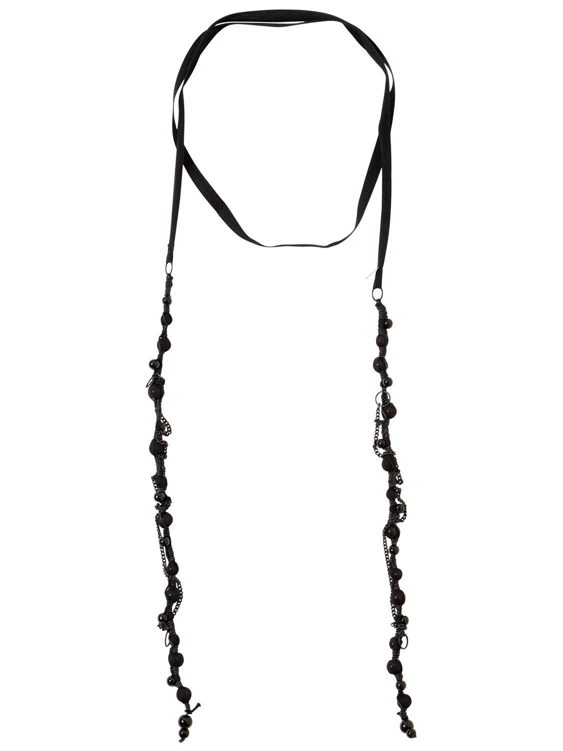 Ann Demeulemeester covered bow necklace - Black ZjMDbdS