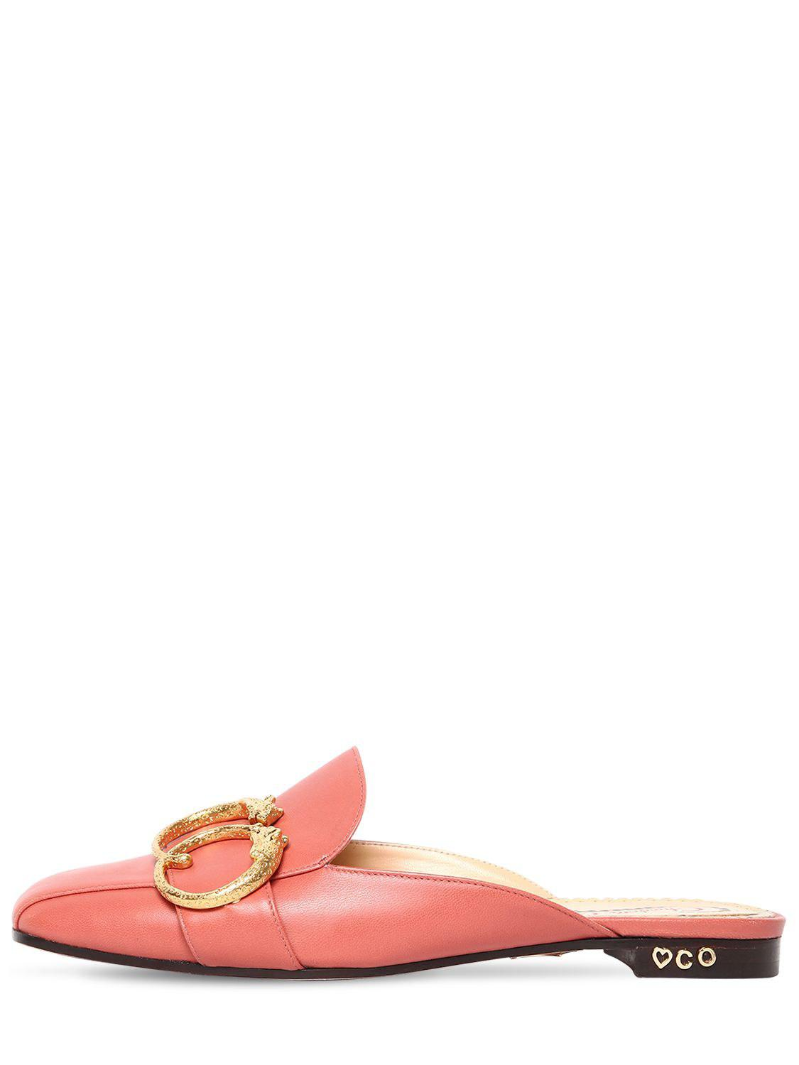 Charlotte Olympia 10MM LEATHER MULES W/ BUCKLE tn5gC5VX