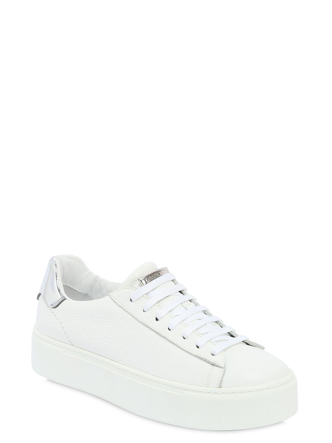 Dsquared2 40MM LEATHER PLATFORM SNEAKERS Buy Cheap Authentic 0Ijgkei