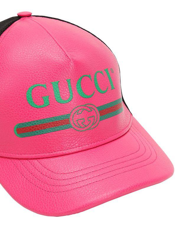 Gucci Vintage Logo Leather Trucker Hat in Pink for Men - Save 32% - Lyst 1fc1596bf