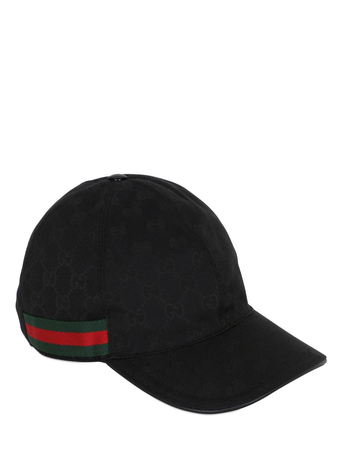 68e07ea6ed912 Gucci Original GG Canvas Baseball Hat in Black - Save 42% - Lyst