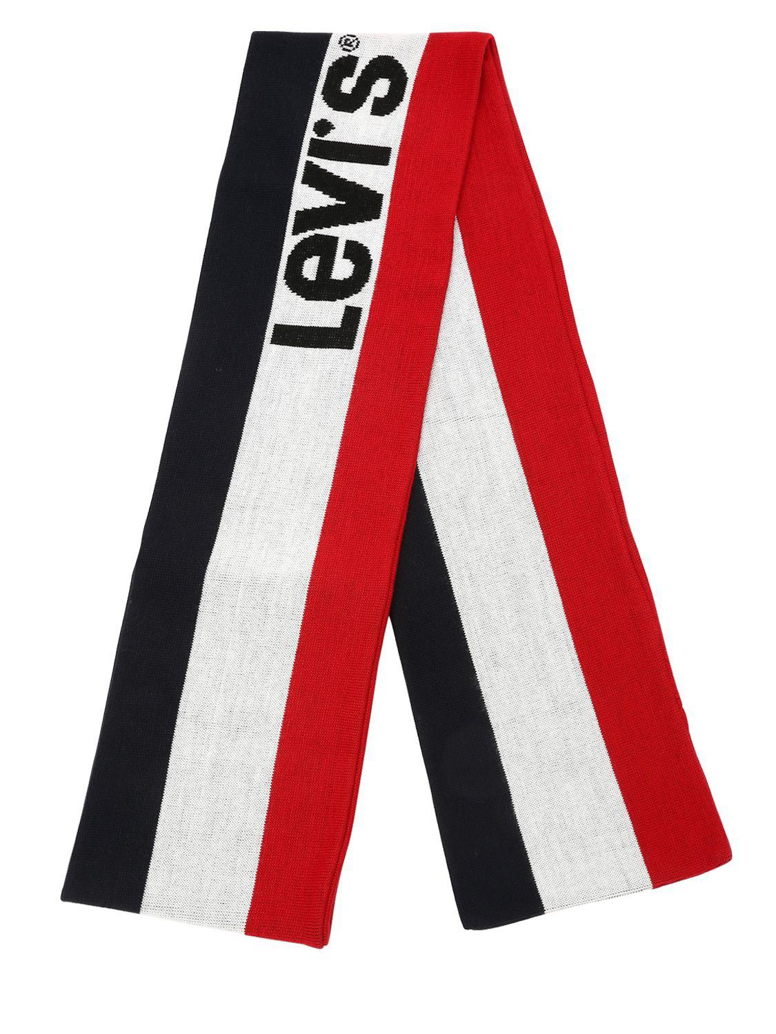 Levi S Tricolor Logo Scarf in Red for Men - Lyst c5bdebac770