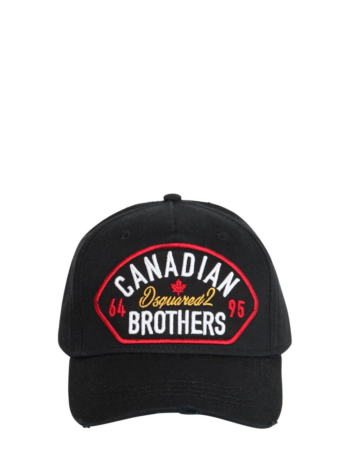 Lyst - DSquared² Canadian Brothers Patch Baseball Hat in Black for Men c6a9c0ff5060