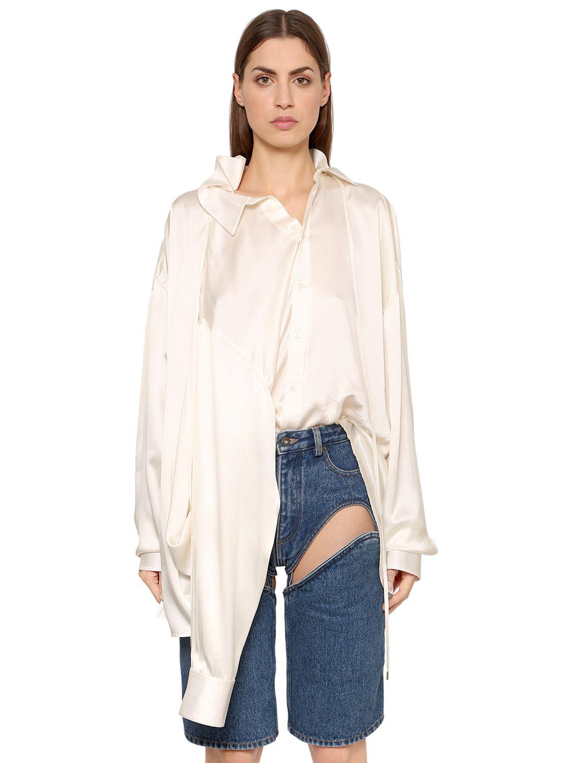 Womens Four-Sleeve Silk Satin Blouse Y / Project Great Deals Cheap Price uYhdJkd