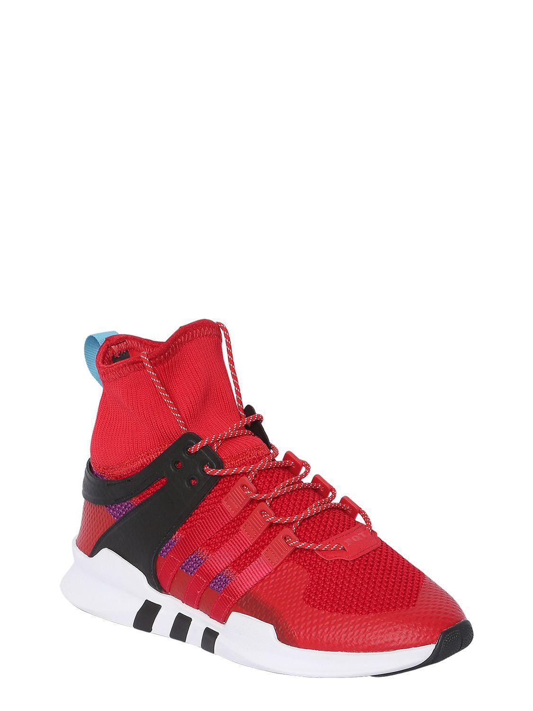 7e1fb991fd9b Adidas Originals - Red Eqt Support Adv Sneakers for Men - Lyst. View  fullscreen