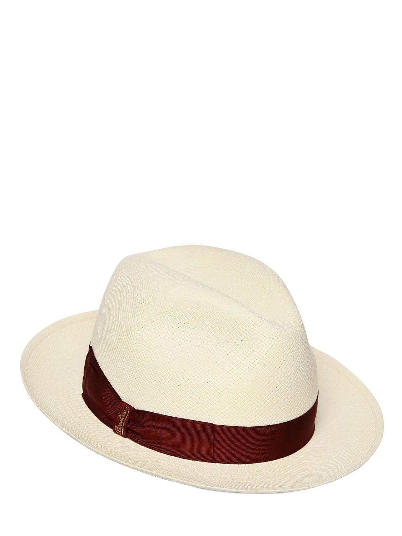 Lyst - Borsalino Quito Straw Panama Hat for Men 8f1cba015e6e