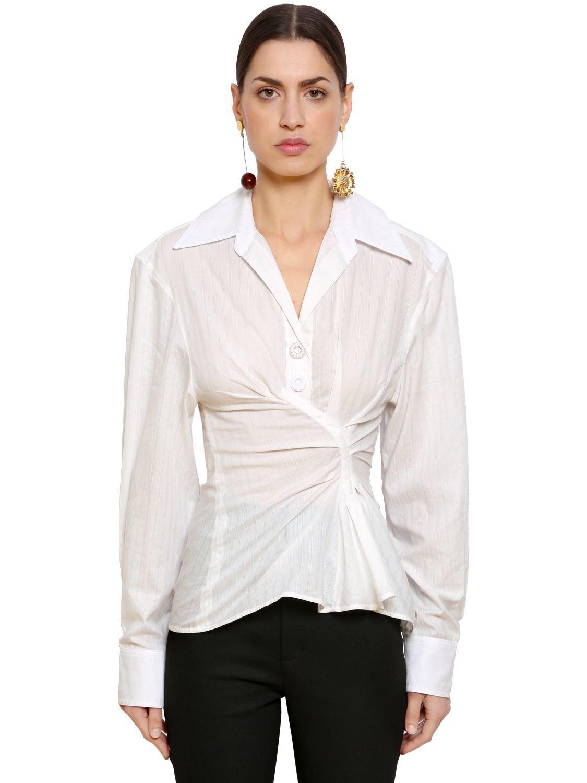 7e3668b3d3f Jacquemus La Chemise Maceio Shirt in White - Lyst