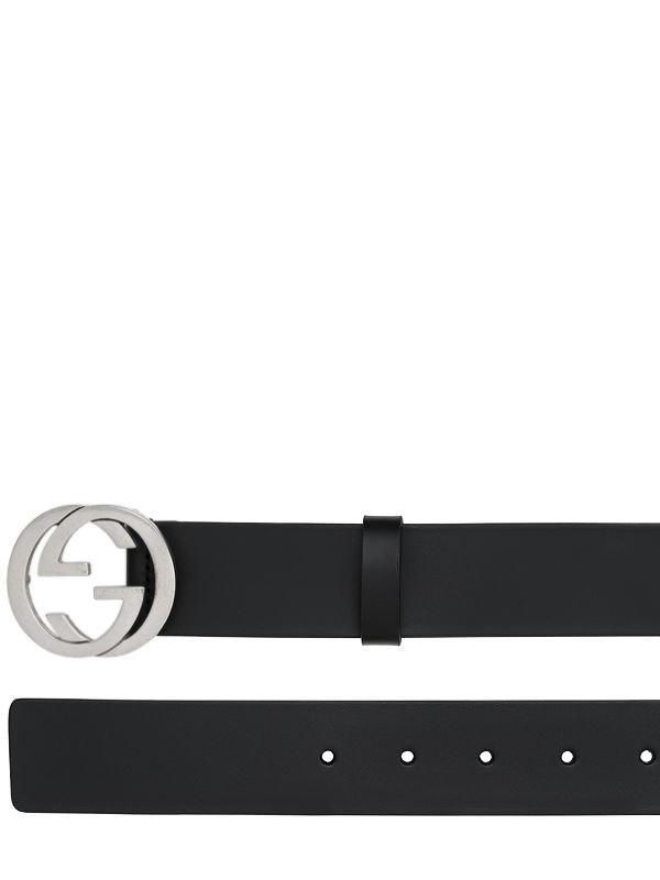 Gucci - Black Cinturón De Piel Con Hebilla Gg 37mm for Men - Lyst. Ver en  pantalla completa 2d1ad5d48eb