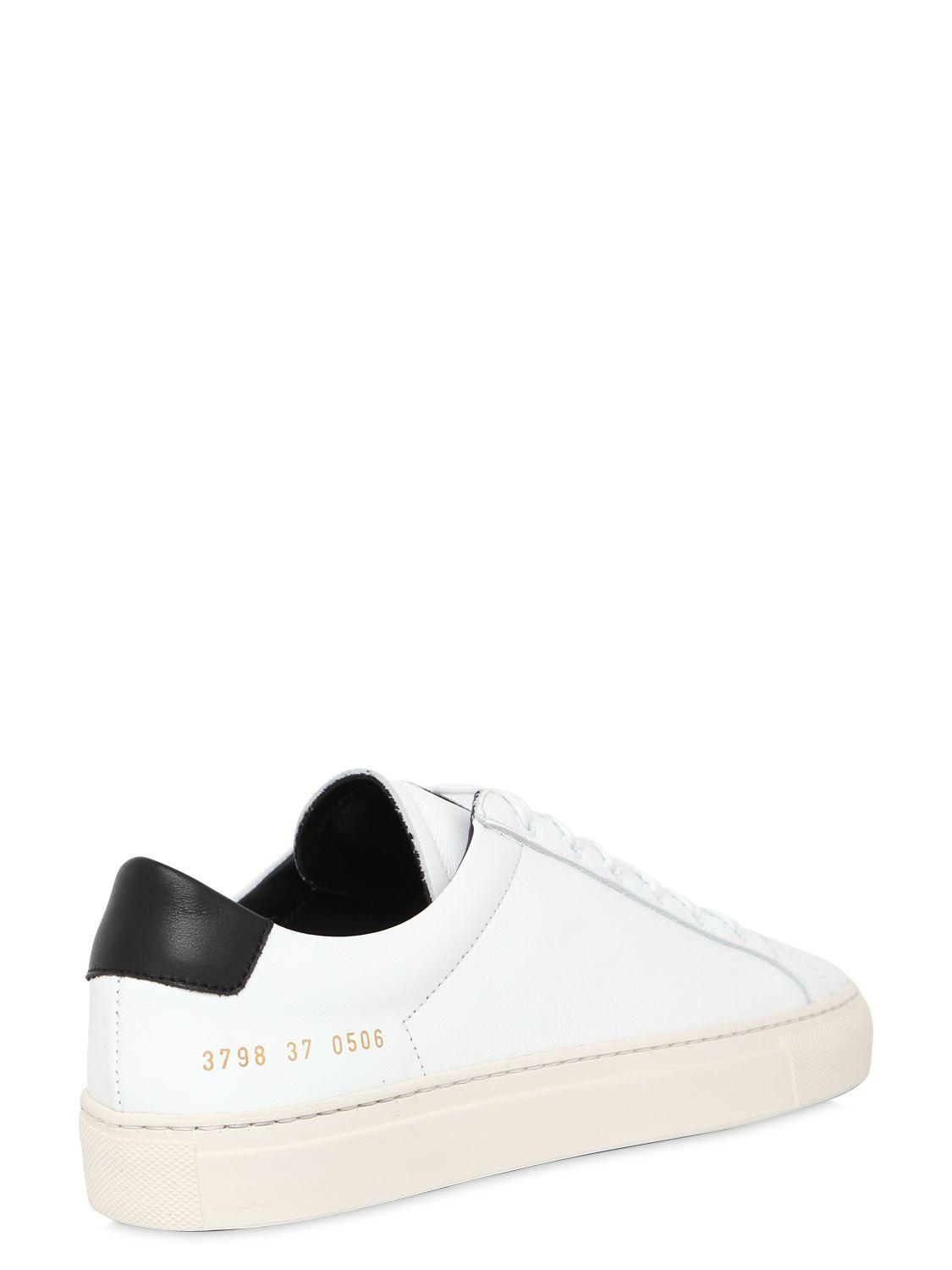 COMMON PROJECTS 30MM ACHILLES RETRO LEATHER SNEAKERS Free Shipping From China PksTf0IEk