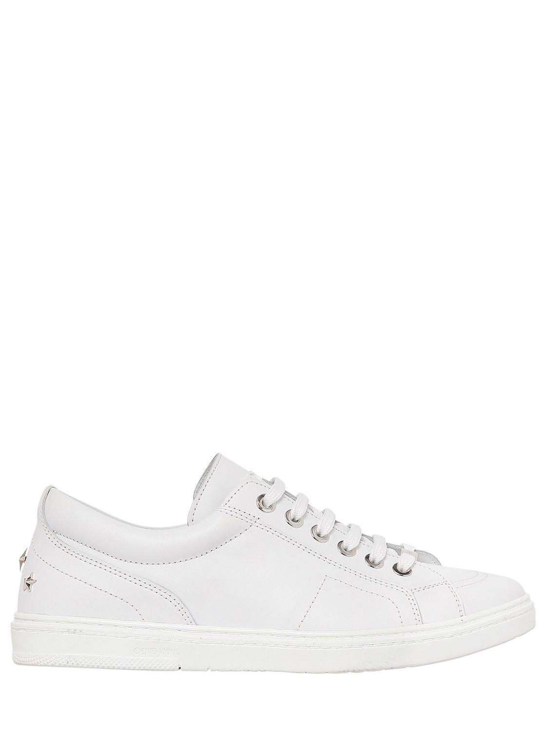 Jimmy choo SMOOTH LEATHER HIGH TOP SNEAKERS Ffc0BKb6
