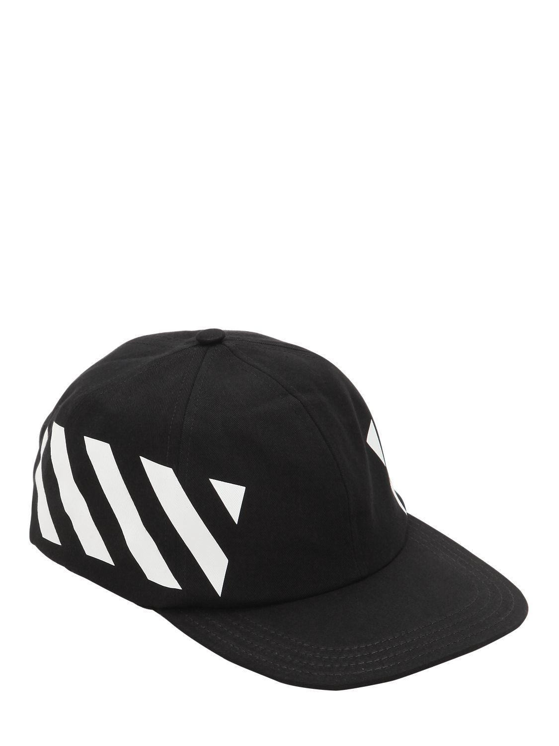 963244c649d Off-White c o Virgil Abloh - Black Printed Cotton Canvas Baseball Hat for.  View fullscreen