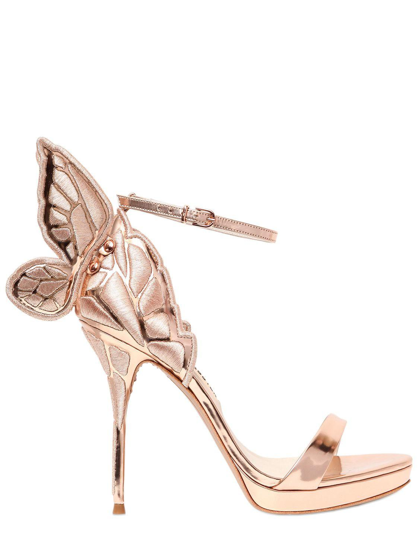5c177cdcac67 Lyst - Sophia Webster 120mm Chiara Metallic Leather Sandals in Metallic