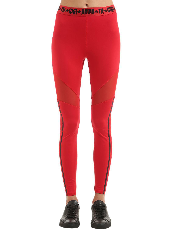 lyst tommy hilfiger sport leggings gigi hadid in red. Black Bedroom Furniture Sets. Home Design Ideas