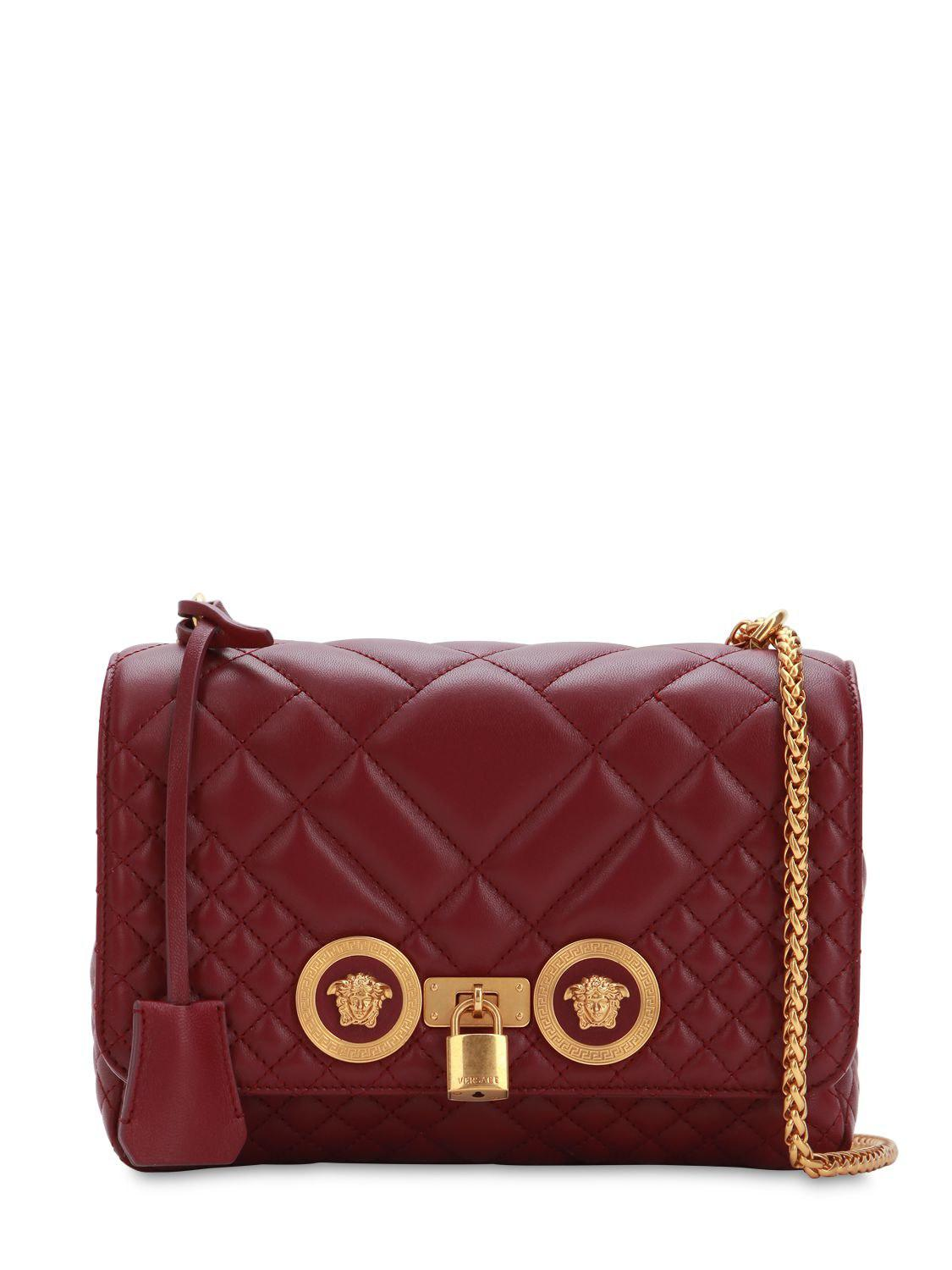 df7c57d24941 Versace - Multicolor Icon Medium Quilted Leather Shoulder Bag - Lyst. View  fullscreen