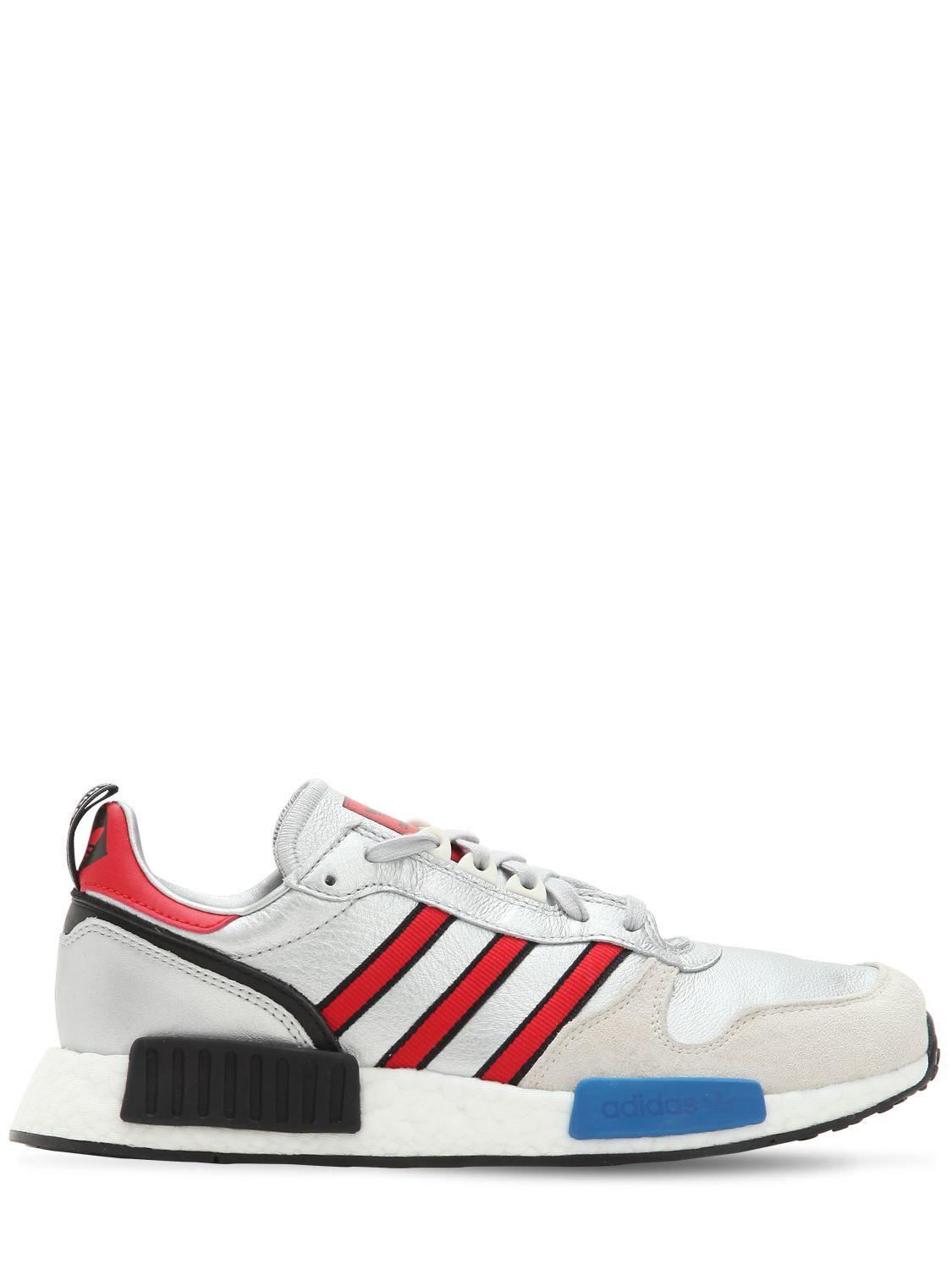 72614268ea384 Lyst - adidas Originals Rising Star X R1 Metallic Sneakers in ...