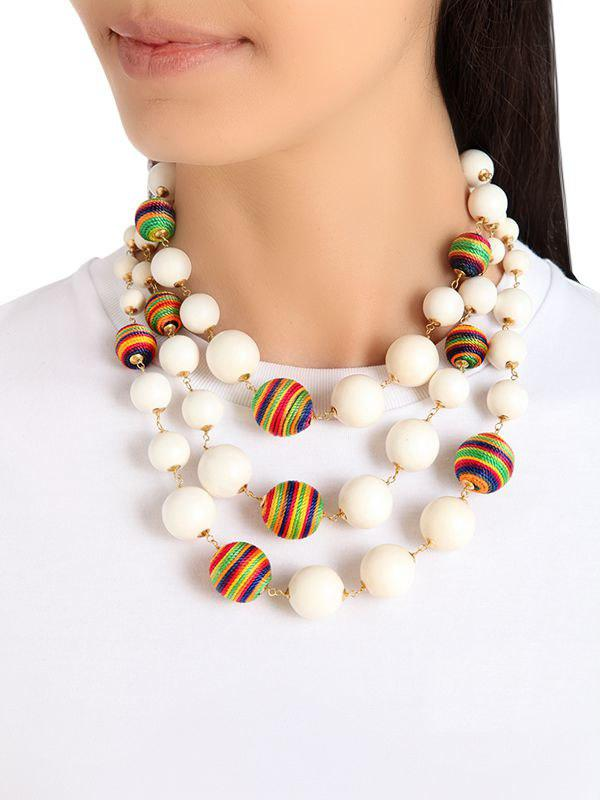 Rosantica Arlecchino multi-strand beaded necklace FNgHMIYRD