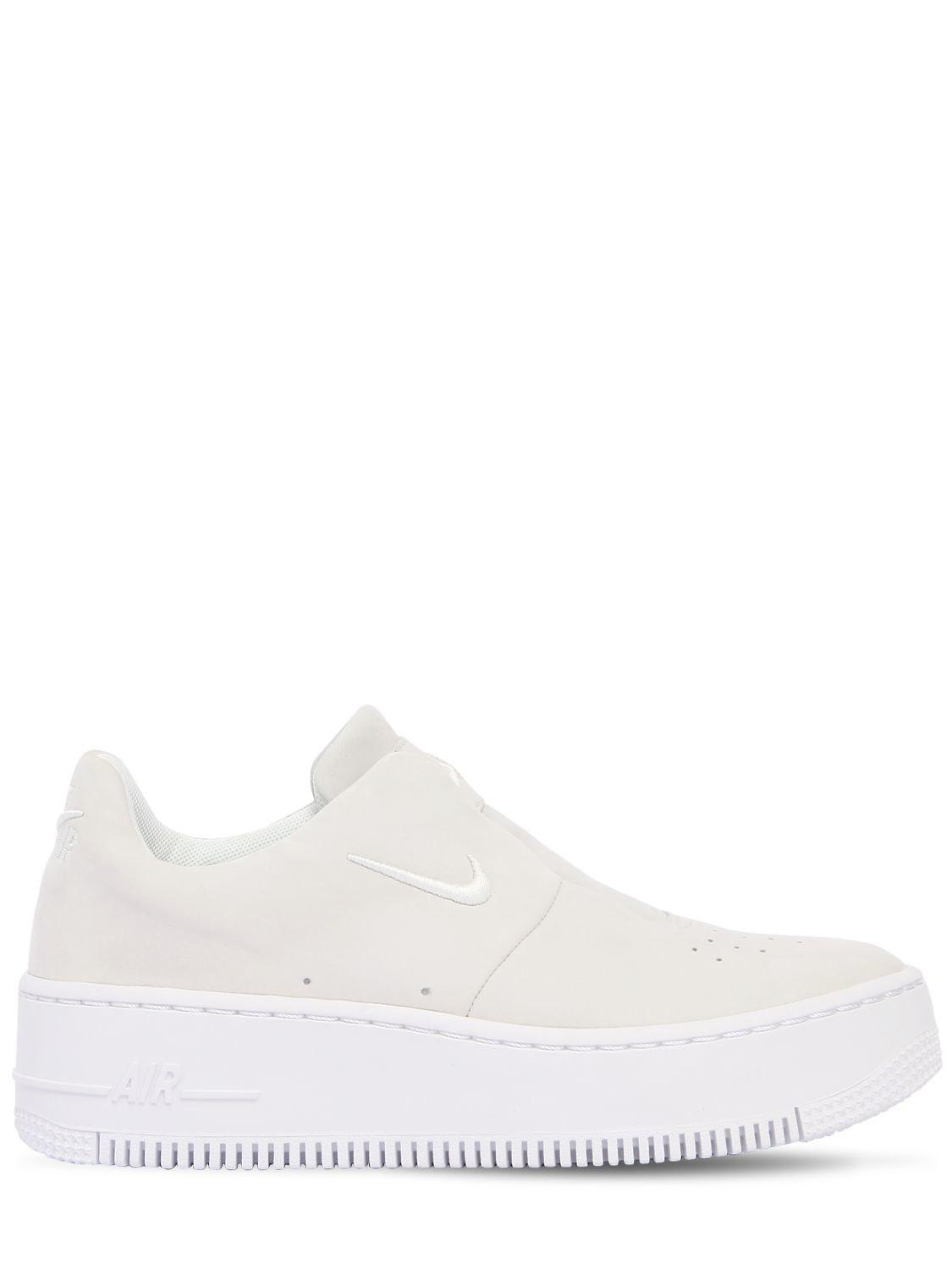 82d82a55742 Lyst - Nike Air Force 1 Sage Xx Slip-on Sneakers in White