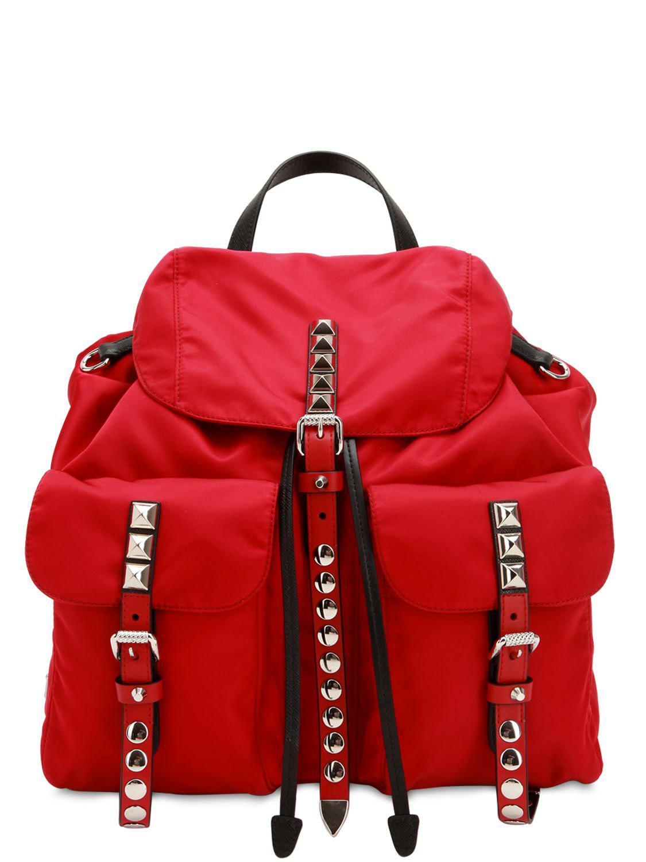 ab969bb20 Prada - Red Mochila De Nylon - Lyst. Ver en pantalla completa