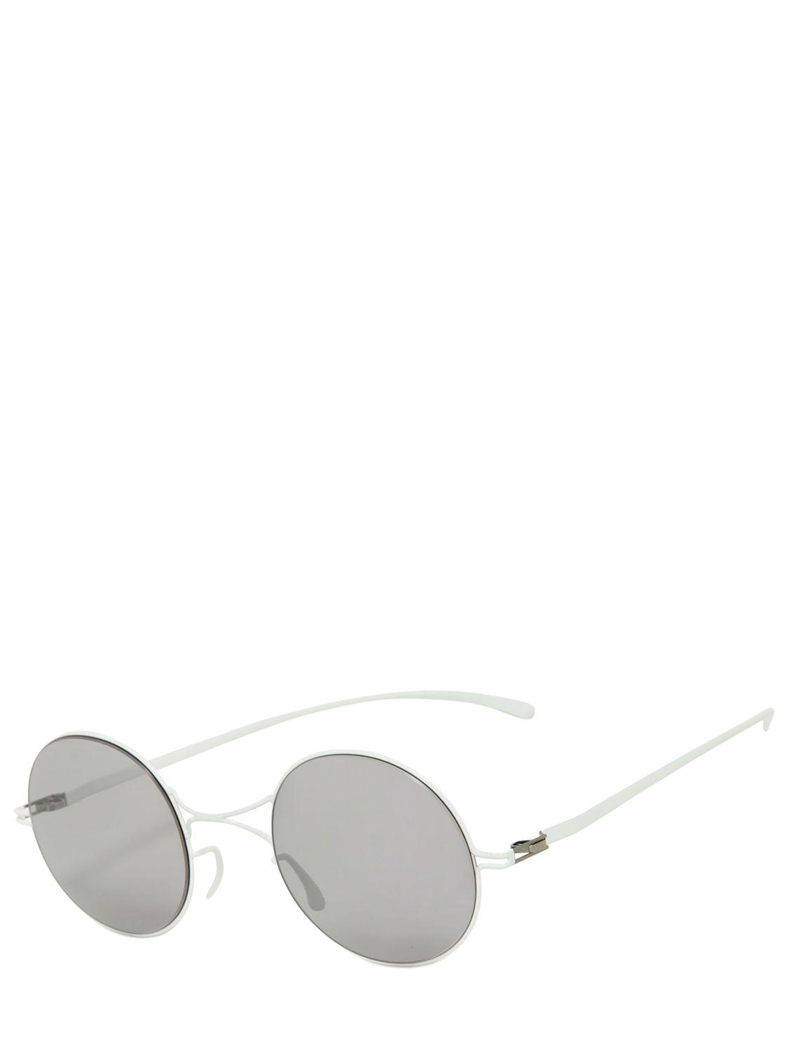 031ff803bb6 Mykita - White Limit.ed Margiela Round Metal Sunglass for Men - Lyst. View  fullscreen