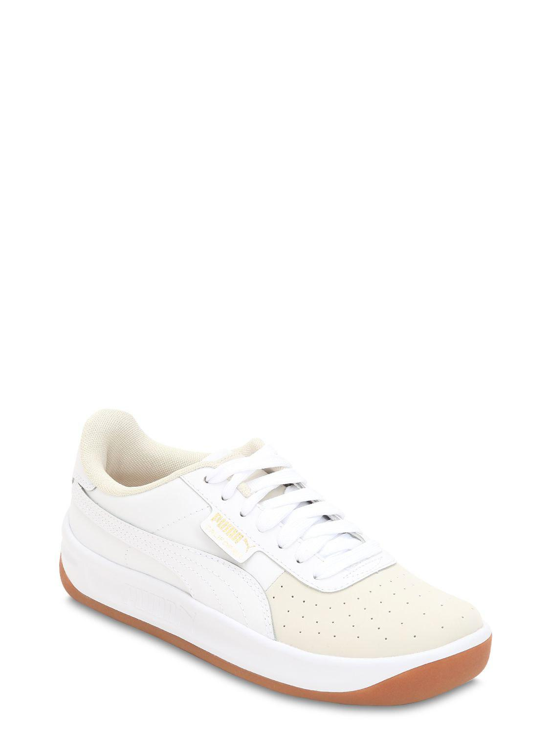 1cae8d63648 Lyst - Puma Select California Exotic Leather Sneakers in White