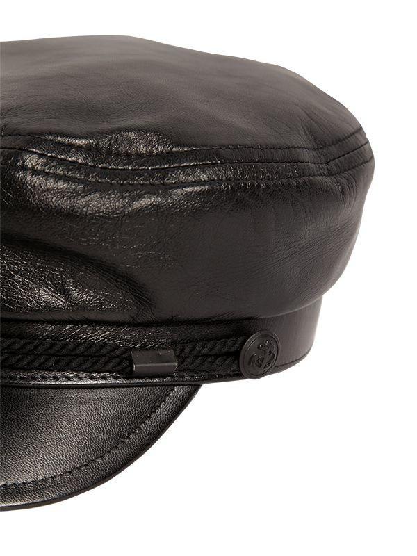 2d9e21ff64d Saint Laurent - Black Chapeau Marine Leather Hat - Lyst. View fullscreen