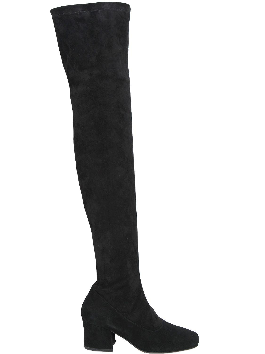 DORATEYMUR 60MM SYBIL SUEDE OVER THE KNEE BOOTS ltryu1d
