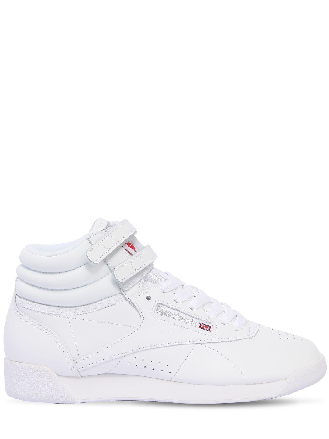 78c2d2b68e0 Reebok Women s Freestyle Leather High Top Sneakers in White - Save 2 ...