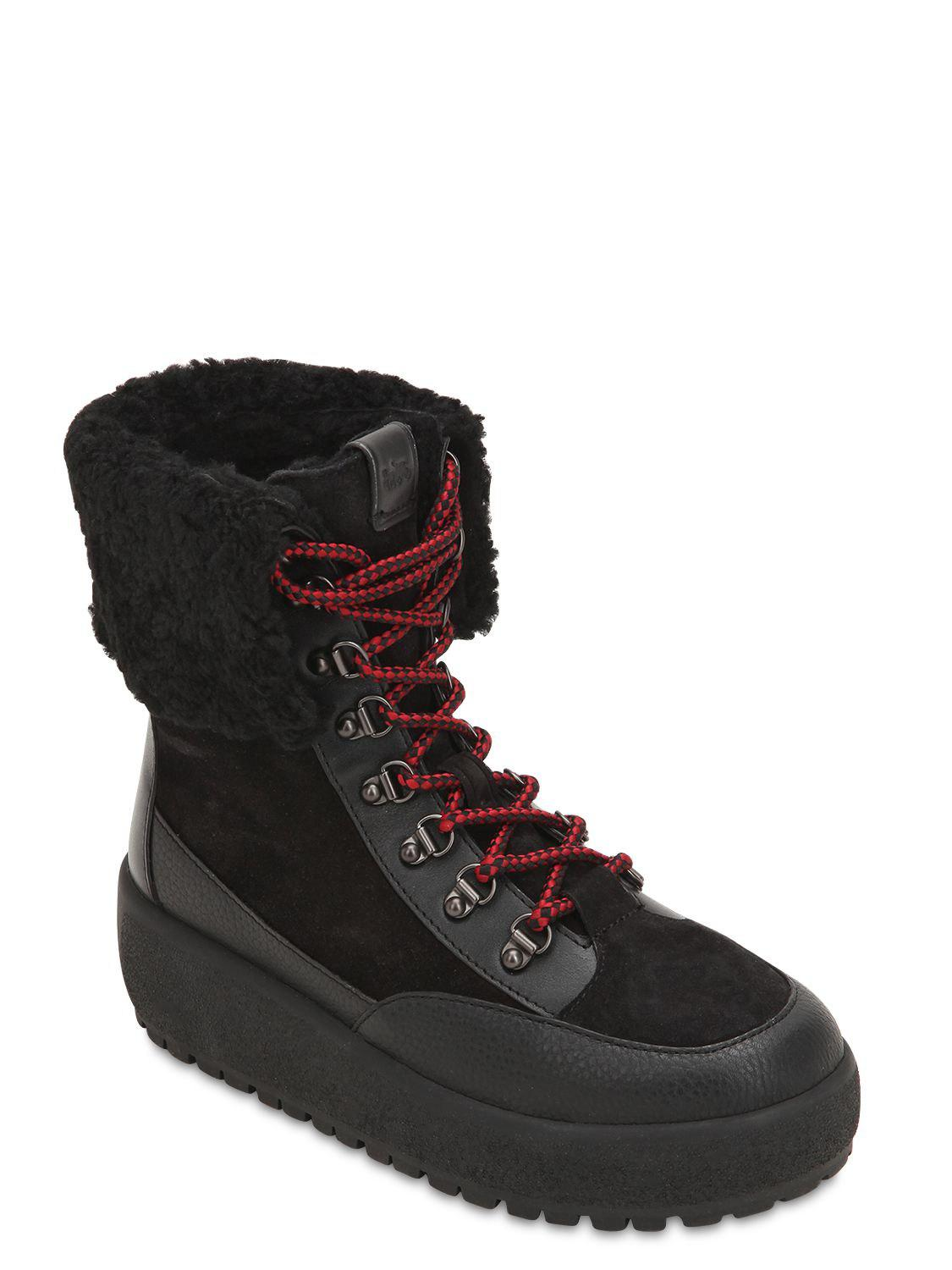 b863fc83811d7 COACH - Black 40mm Tyler Suede   Leather Hiking Boots - Lyst. View  fullscreen