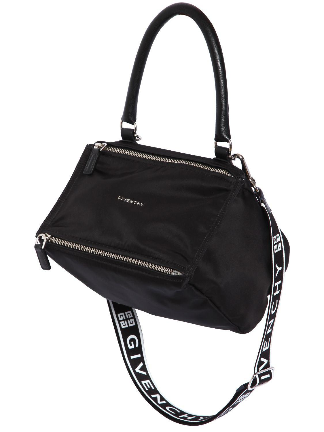 dbd16586f2d Givenchy - Black Small Pandora Nylon Bag W  Logo Strap - Lyst. View  fullscreen