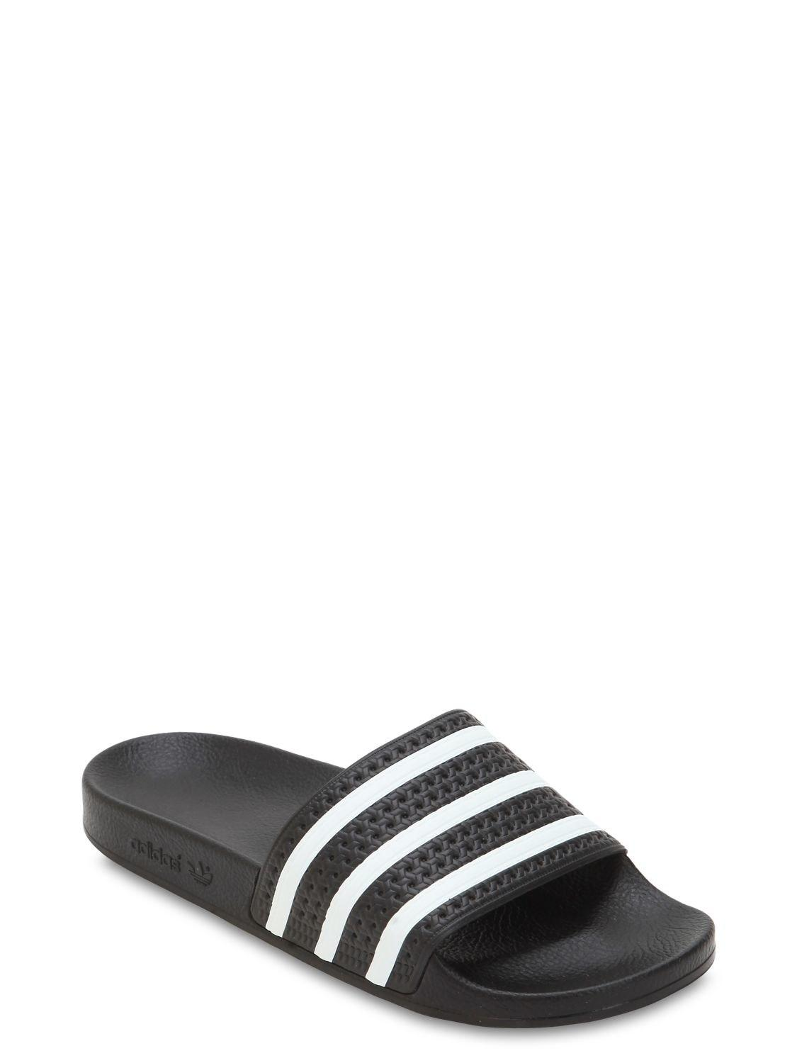 f5d738fe0 adidas Originals Adilette Rubber Slide Sandals in Black for Men - Lyst