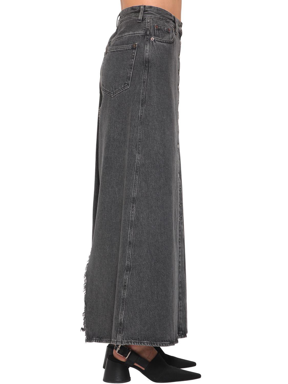 041a3e89b MM6 by Maison Martin Margiela Long Button Down Cotton Denim Skirt in ...