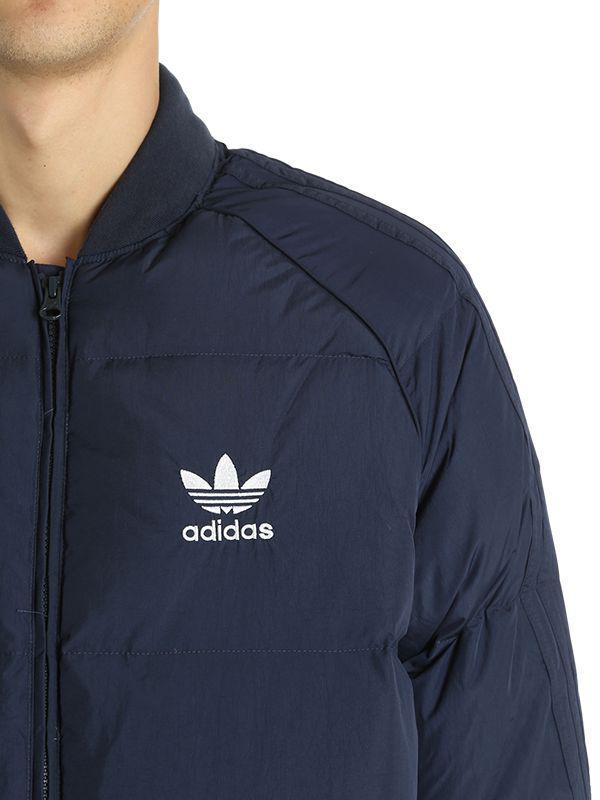321b4a69eea6 Lyst - adidas Originals Sst Logo Printed Bomber Jacket in Blue for Men