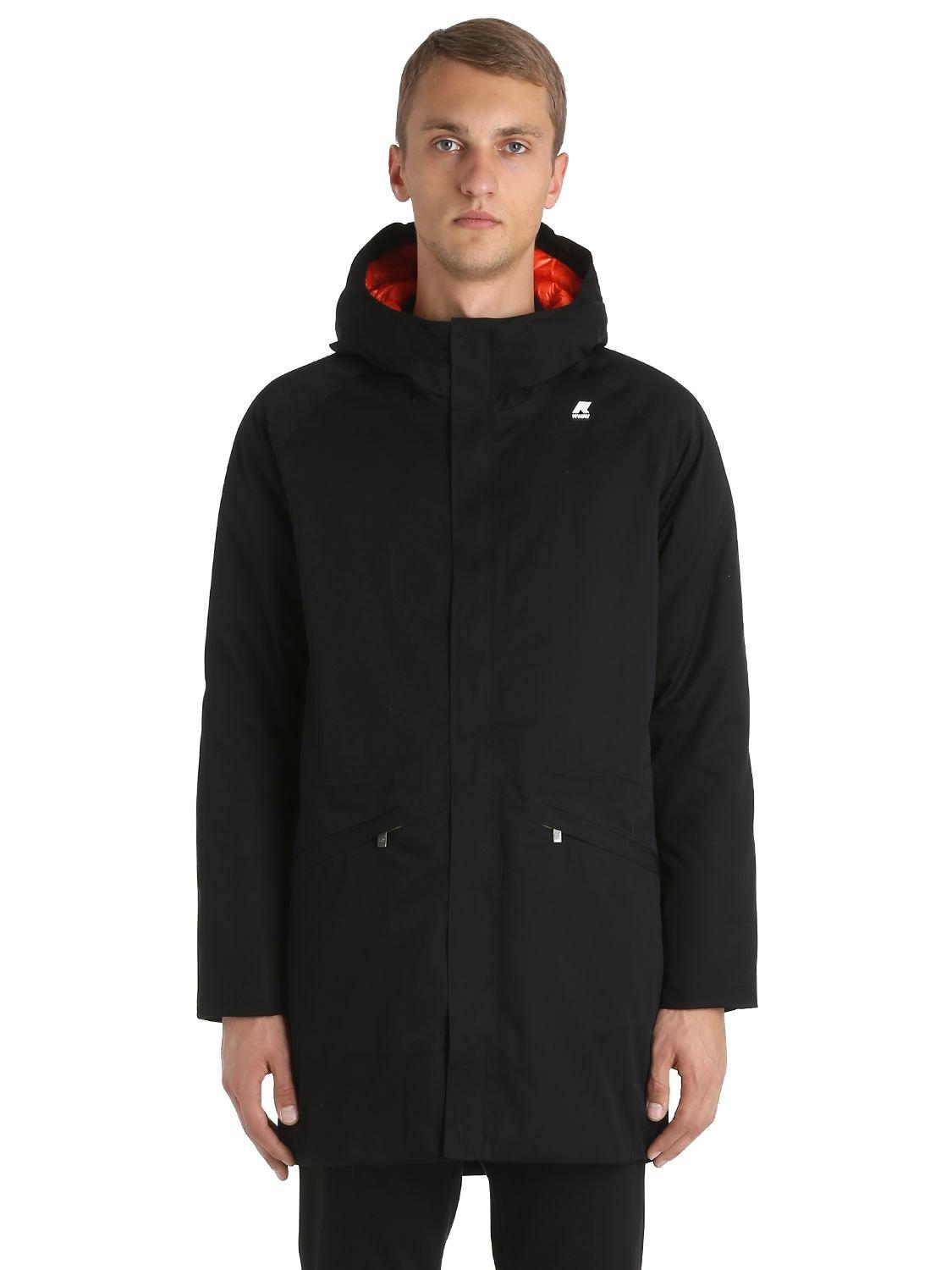 0a18f134ca421a K-Way Jeremy Thermo Cotton Down Parka in Black for Men - Lyst