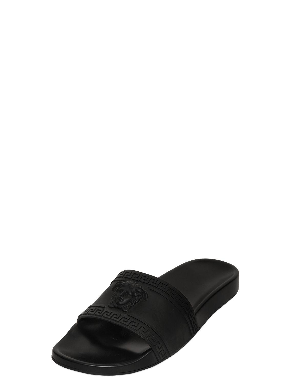 e1f2b813779 Lyst - Versace 3d Medusa Slide Sandals in Black for Men
