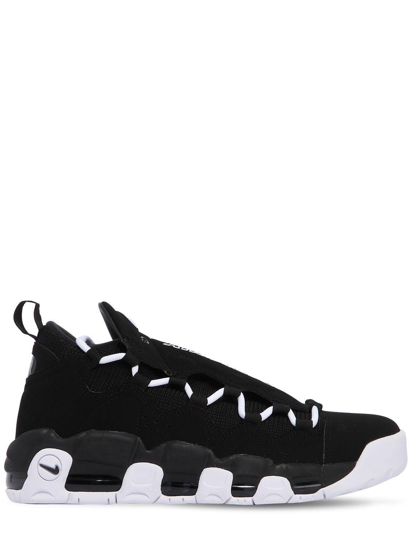 Nike. Men's Black Air Get Money Leather Sneakers