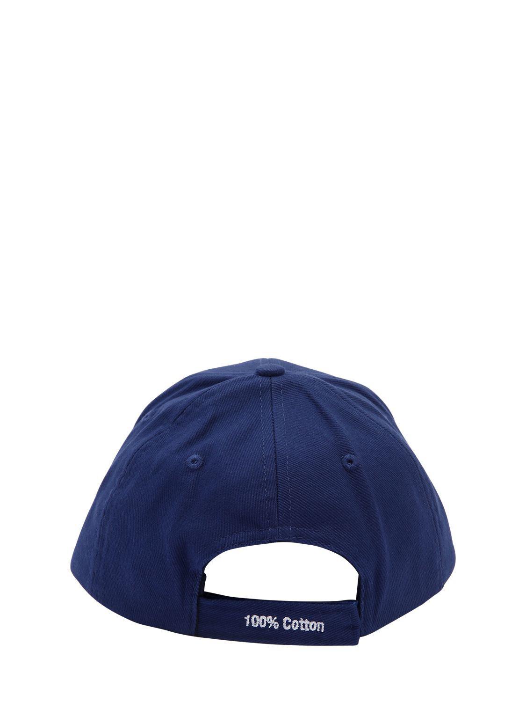 Lyst - Vetements Tommy Hilfiger Logo Cotton Hat in Blue for Men 6519a3c1bc50