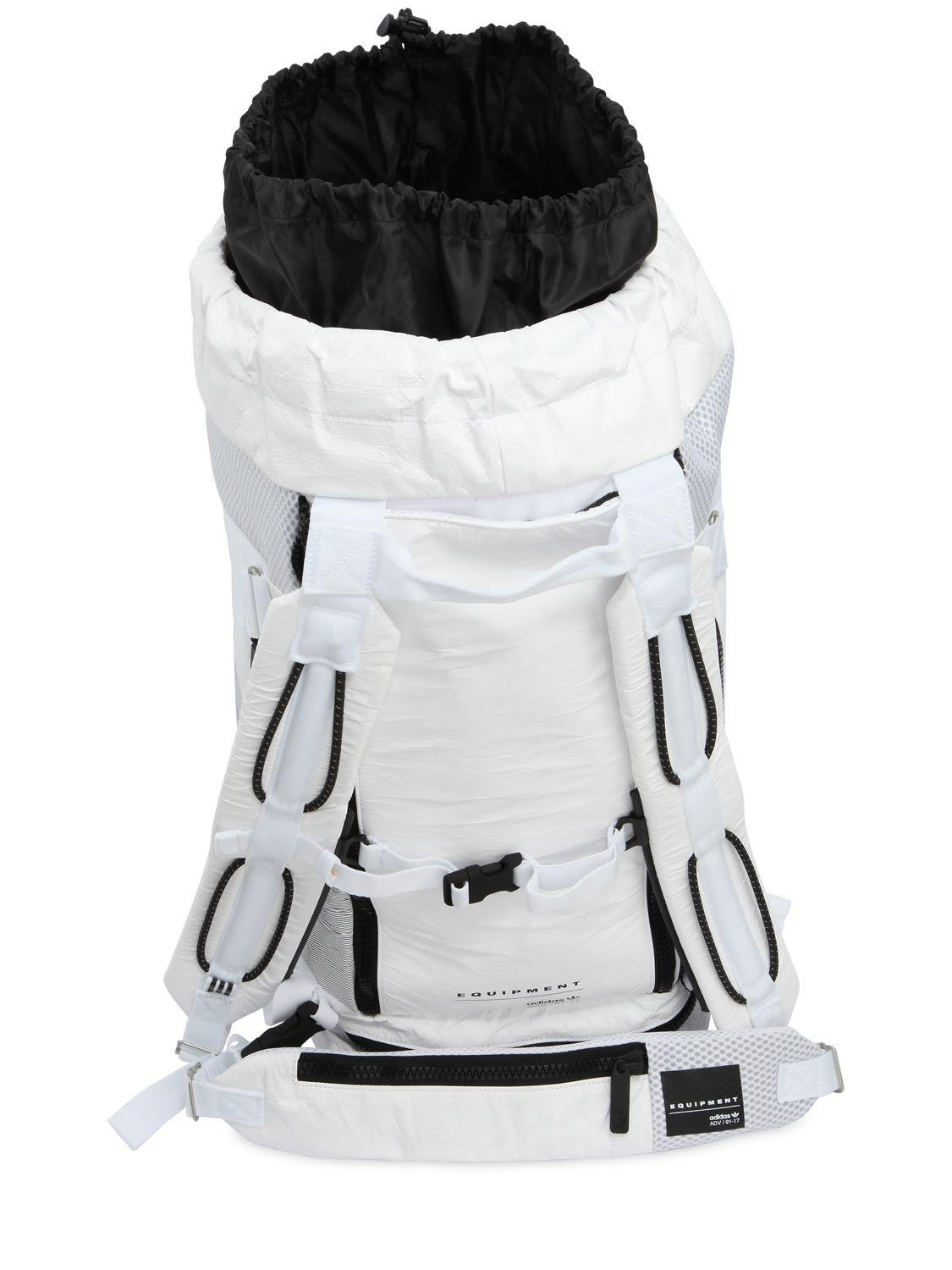 ace5f58071 Lyst - adidas Originals Eqt Teambag Paper Effect Backpack in White ...