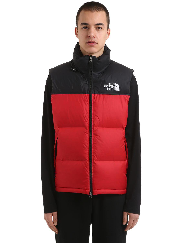2edde2d580 The North Face 1996 Retro Nuptse Down Vest in Red for Men - Lyst
