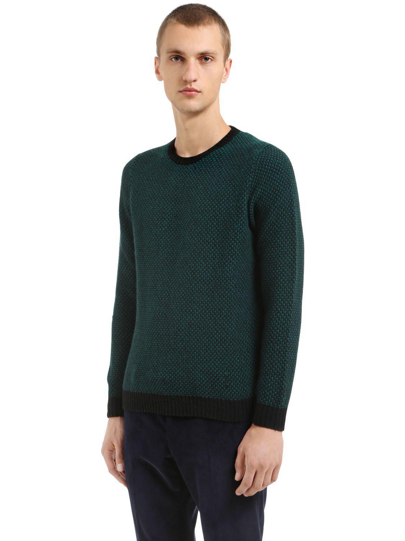 Sweater In W Crewneck Massimo Wool Piombo Stripes Lyst Mp Merino w40fxqnzY